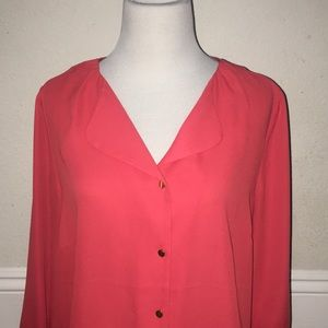 The Limited | Tunic Blouse | Coral/Orange Color